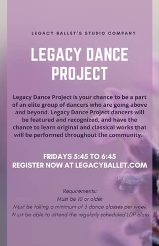 Legacy Dance Project flyer