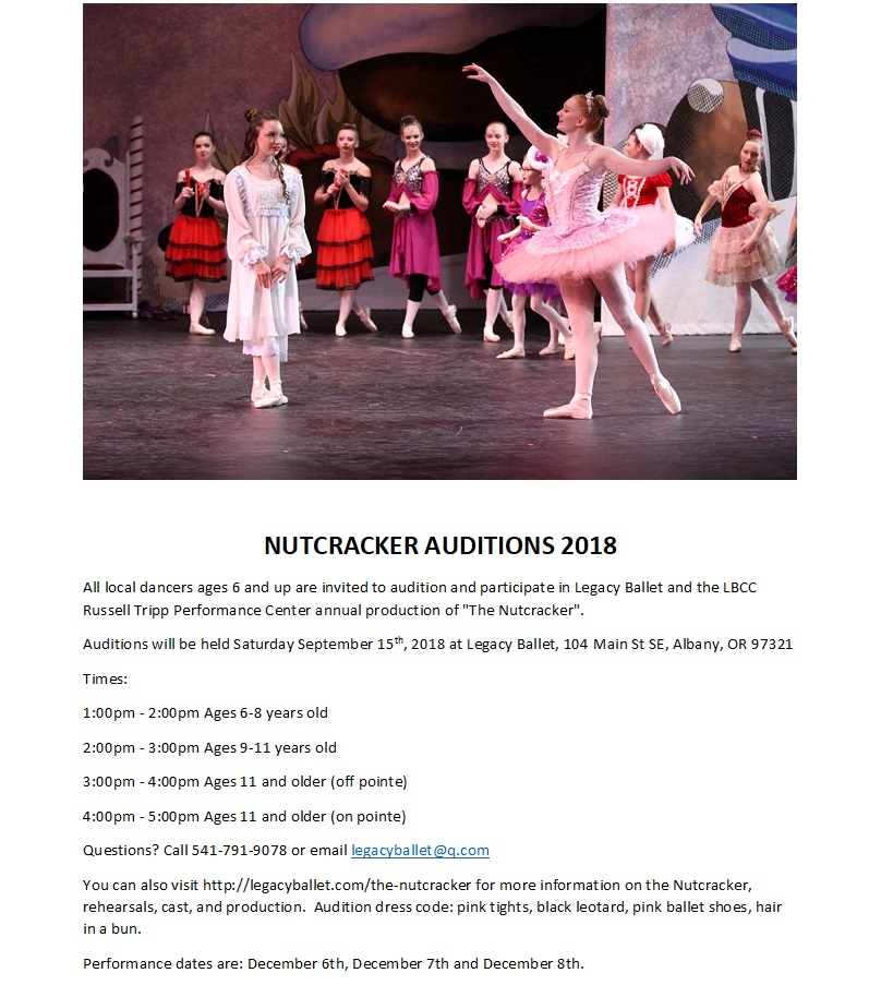 Nutcracker auditions 2018