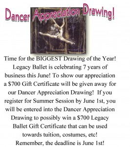 Dancer Appreciation Drawing